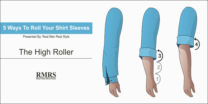 rolling up dress shirt sleeves