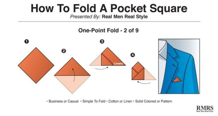 folding a pocket square - one-point
