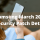 Samsung March 2021 security patch update