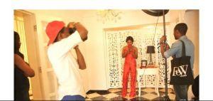 Olajumoke during a photo shoot