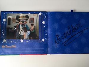 Disney souvenirs photo autograph book