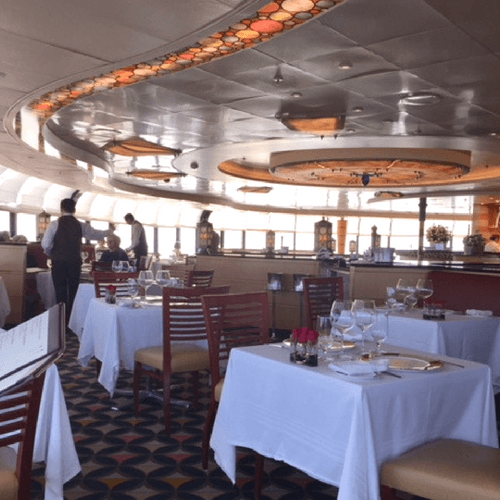 Palo restaurant on Disney Cruise line