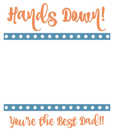 Fathers day card with child's handprints