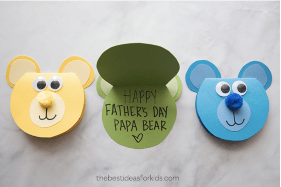 pattern for teddy bear fathers day cards