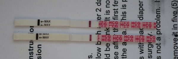 2 very faint positive pregnancy tests at 7dpo- very early pregnancy sign before missed period