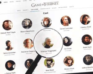 Game of Thrones Baby Names feature