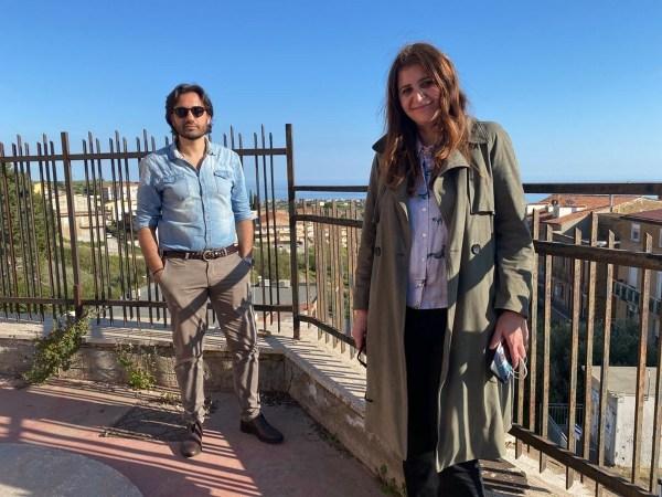 Il sindaco di Realmonte Sabrina Lattuca ed il fotografo Nuccio Zicari
