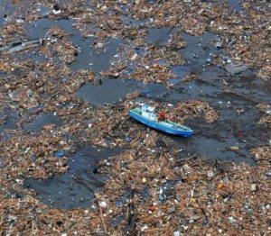 Pacific Trash Pile from Tsunami
