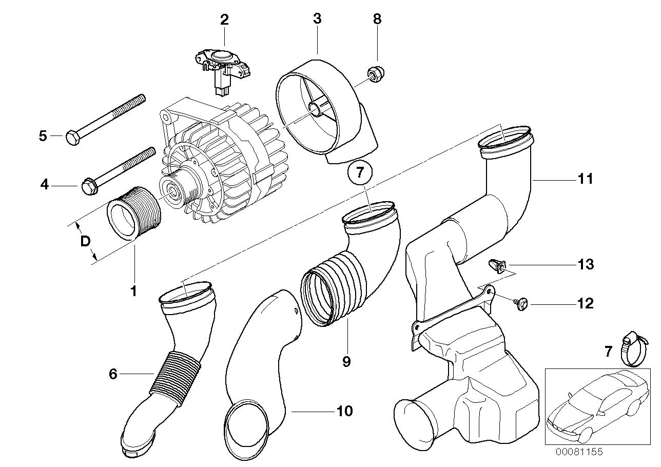 Alternator parts 90a valeo