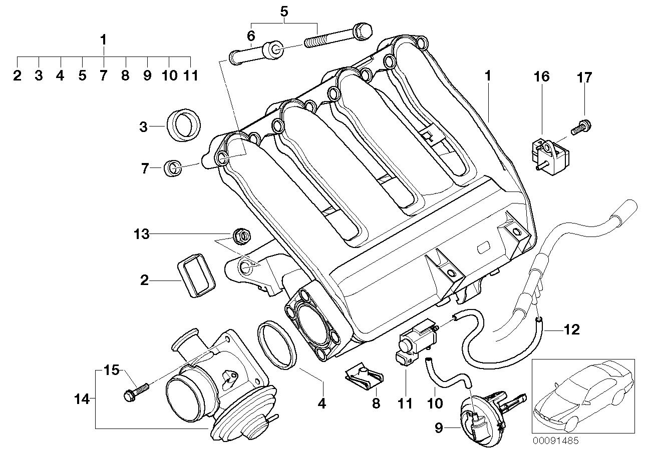 Vacuum Hose E46 Vacuum Hose Diagram