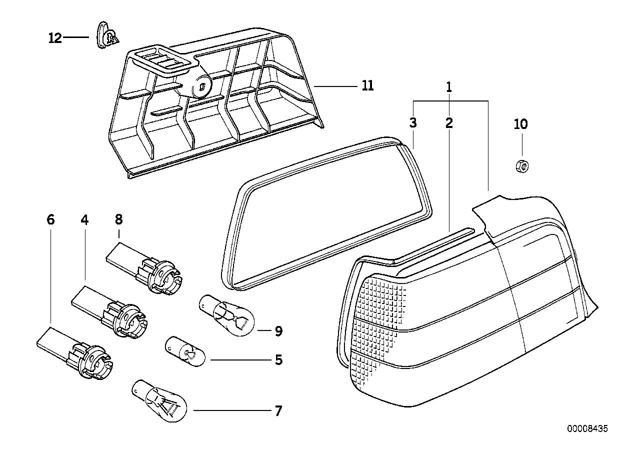 Youan E36 M3 Tail Light Bulbs