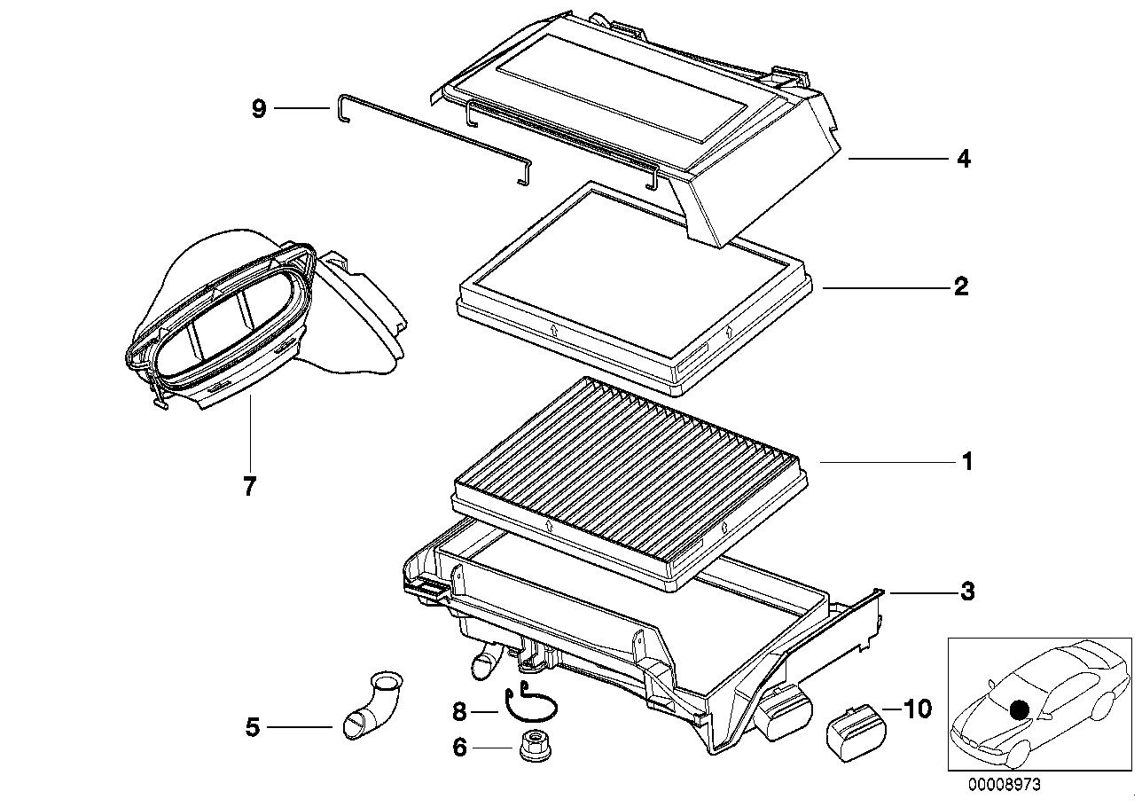 Broken Cabin Air Filter Intake Joint