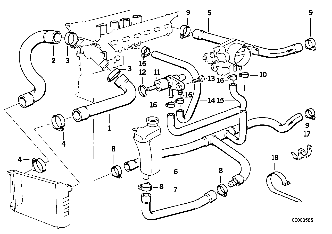 Bmw 325i Coolant Hose Diagram