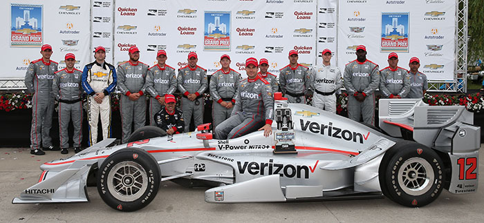 Will Power and Team Penske win Race 2 of the Chevrolet Dual in Detroit at Belle Isle Park
