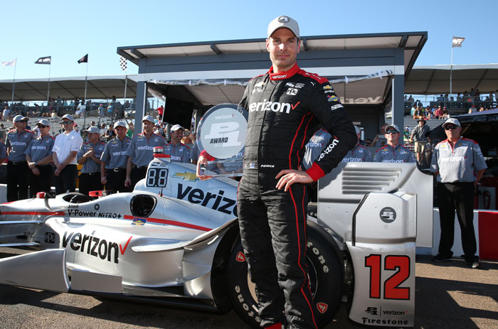 Will Power wins the Verizon P1 Award for claiming the pole position for the Firestone Grand Prix of St. Petersburg
