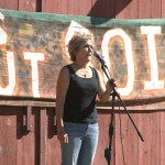 Barbara Damrosch speaks at farm rally