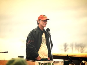 Dave Chapman at a Vermont farm rally Real Organic Project