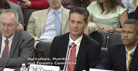 Theo Crisantes of the Coalition for Sustainable Organics testifying to the Senate in 2017