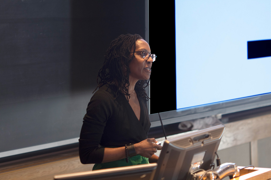 Onika Abraham speaks at the Real Organic Project Symposium in March, 2019.