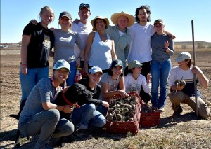 training young farmers at real organic certified farm Hobbs & Meyer Farms in Colorado