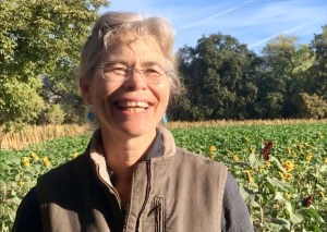 Organic farmer Judith Redmond in her fields in California's at Real Organic certified farm Full Belly Farm