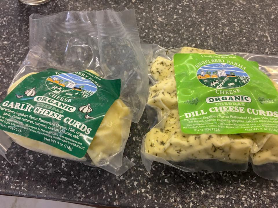 packaged cheese curds from Engelbert Farms New York