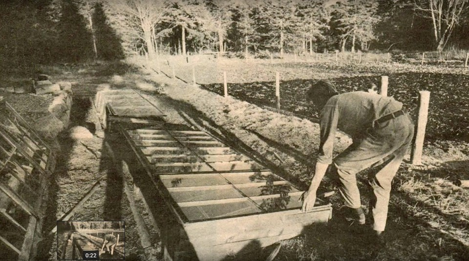 eliot coleman constructs cold frames in his maine market garden