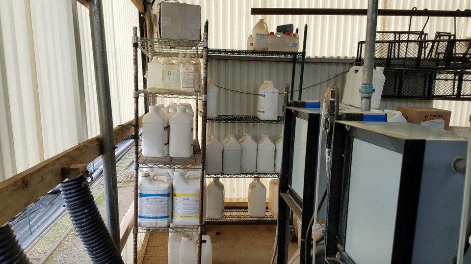 "The fertilizer rack. ""Hydroponic compost""?"