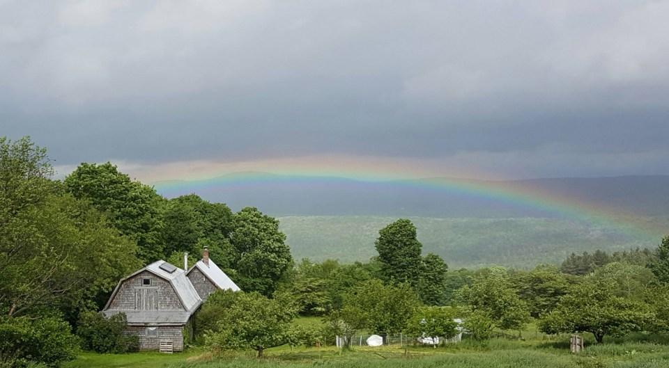 Rainbow over butterworks farm