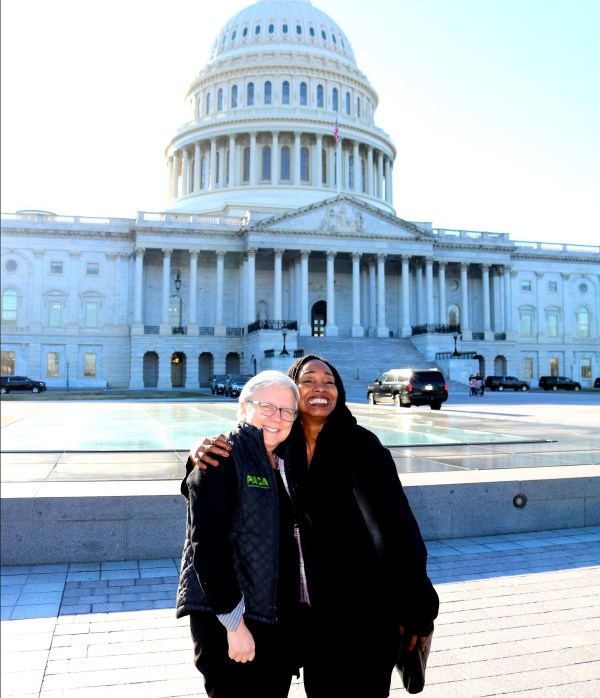 ROP farmers Hannah Smith-Brubaker and Jennifer Taylor in Washington. Here....We....Come!