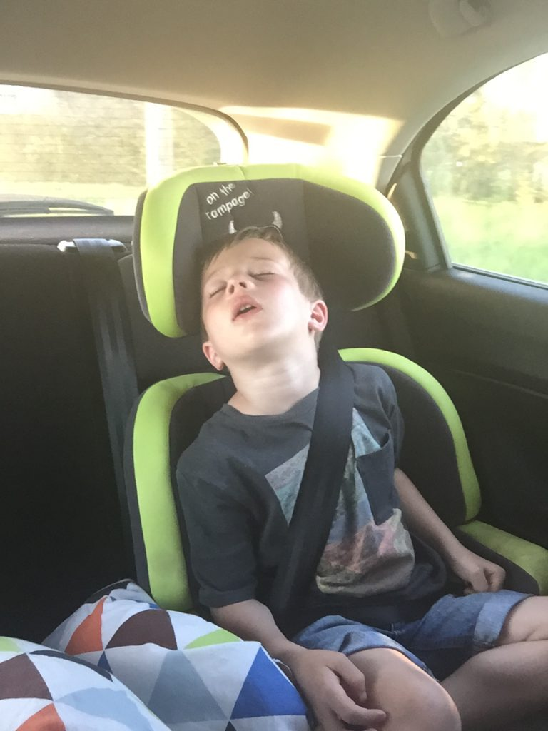Make sure everyone's comfy when driving abroad with children