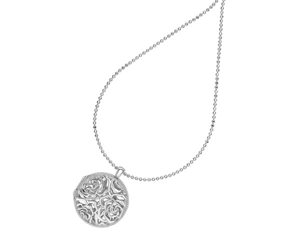 Sterling Silver Wild Rose Locket