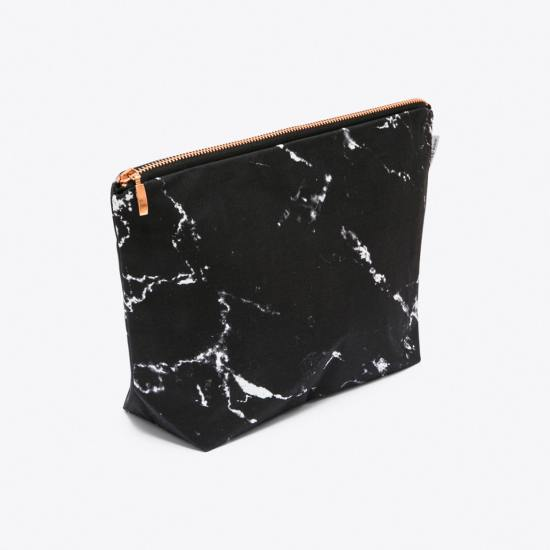 Marble Wash Bag in Black by Renna Deluxe