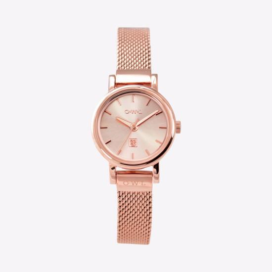 The Ashbourne Watch in Rose Goldby O.W.L Great Britain