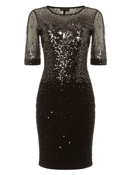 Orlena Ombre Sequin Knitted Dress