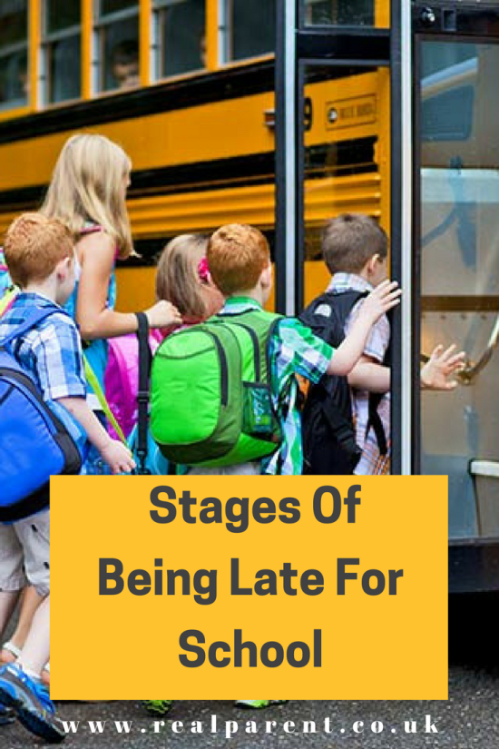 The 14 Stages Of Being Late For School | www.realparent.co.uk