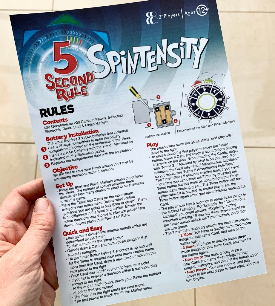 How To Play Spintensity 5 Second Rules