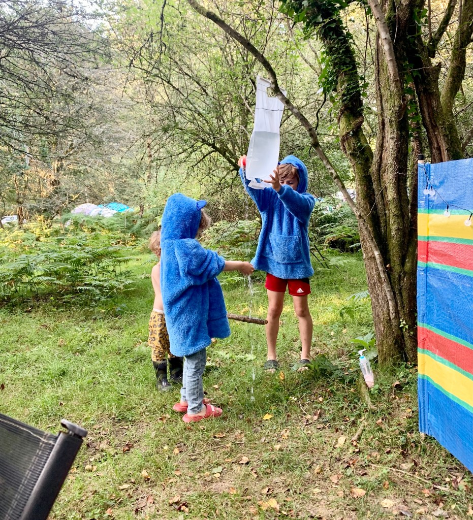 Washing hands whilst camping
