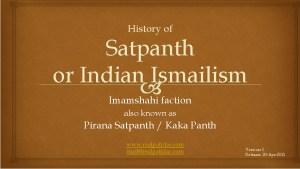 History of Pirana Satpanth