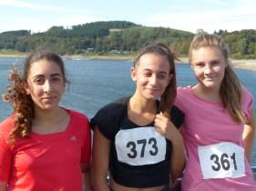 Die Siegerinnen des 7km-Laufes