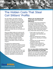 The Hidden Costs That Steal Coil Slitters' Profits