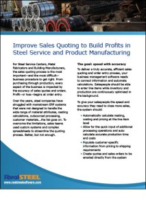 Improve Sales Quoting to Build Profits in Steel Service and Product Manufacturing