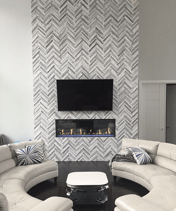 Ceiling Fireplace Ideas High
