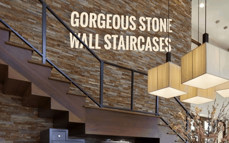 5 Stone Wall Staircase Design Ideas For Your Home Realstone | Interior Design Staircase Wall | Luxurious Home | Unique | Beautiful | Fancy | Building Interior