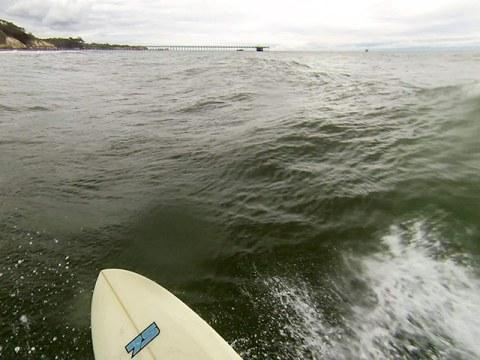 Surfing Driftwood, CA