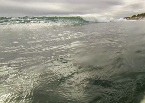 Walled up wave at Deadmans