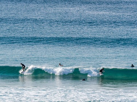 Freshwater beach surfing