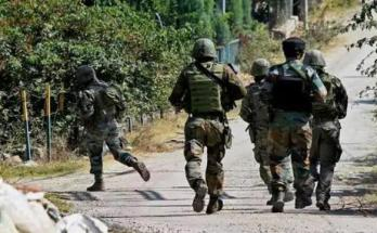 Jammu Kashmir, Shopian district, Security forces and, Terrorists, Encounter,