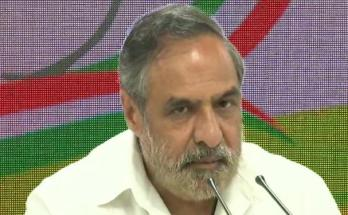 Congress leader Anand Sharma,