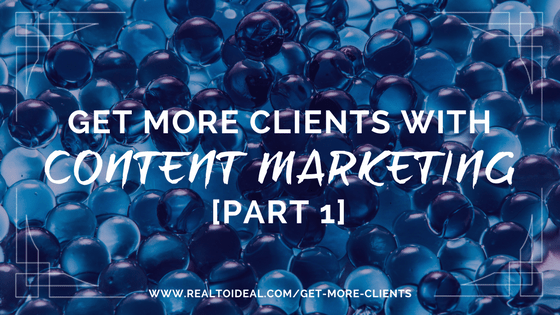 A clear content marketing strategy can help you attract ideal clients on autopilot which is the best and easiest ROI for your time, energy and money. #marketing #coaching #clients
